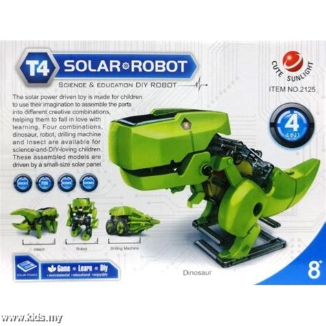 4 In 1 Transforming Solar Robot Science Education Diy Diskon t4 transforming solar robots