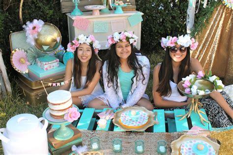 Sweet Sixteen Backyard Party Ideas Boho Sweet 16 Birthday Party Idea Shindigz