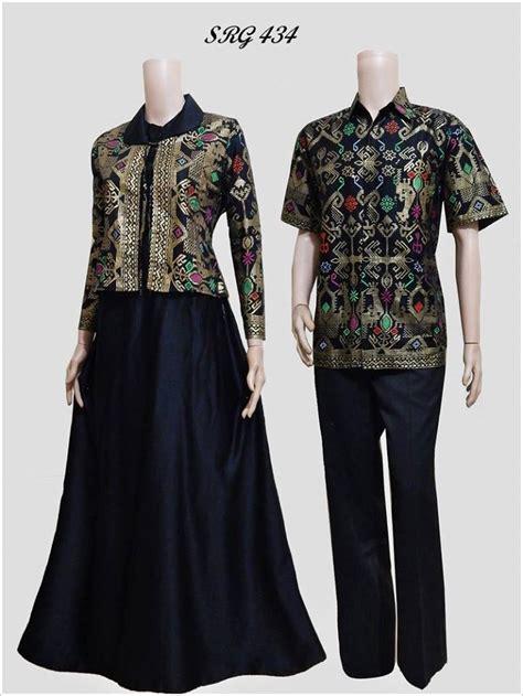 Baju Batik Gamis Pasangan baju batik pasangan gamis srg 434 model bolero