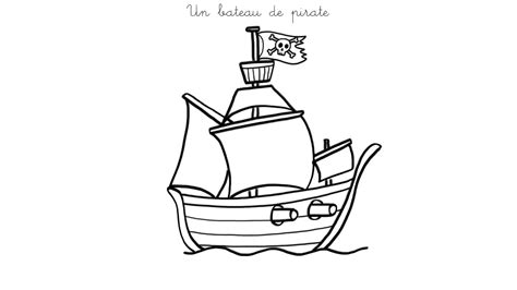 dessin bateau noir bateau de pirate coloriages des transports page 2