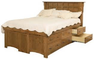 Solid Wood Platform Bed With Drawers King Solid Wood Pedestal Bed With 12 Drawers