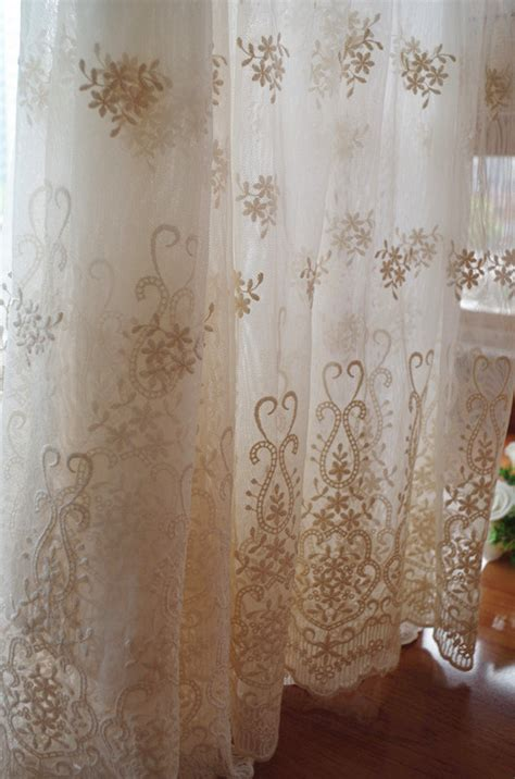ivory cream lace fabric embroidered tulle lace fabric mesh