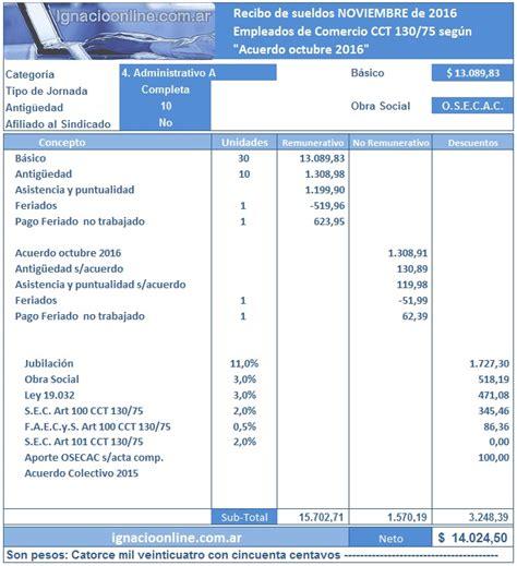 recibo de sueldo empleados de comercio 2016 recibo de sueldo empleado de comercio 2016