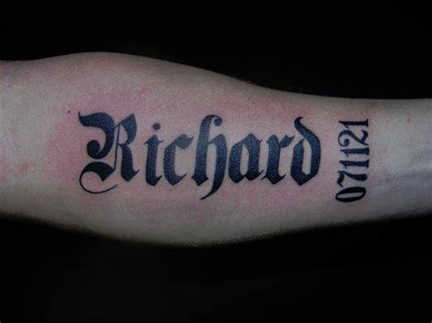 name tattoo designs on arm arm name ideas