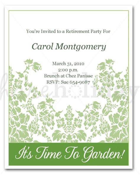 Retirement Card Template For Word by Retirement Invitation Template Word Wedding Invitation
