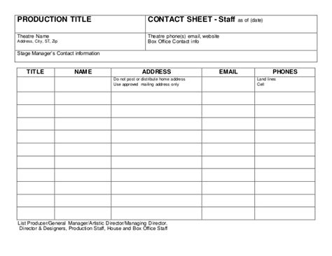 Do I List Professors Mba On Running Title Page by Contact Sheet Artistic Production Staff Copy
