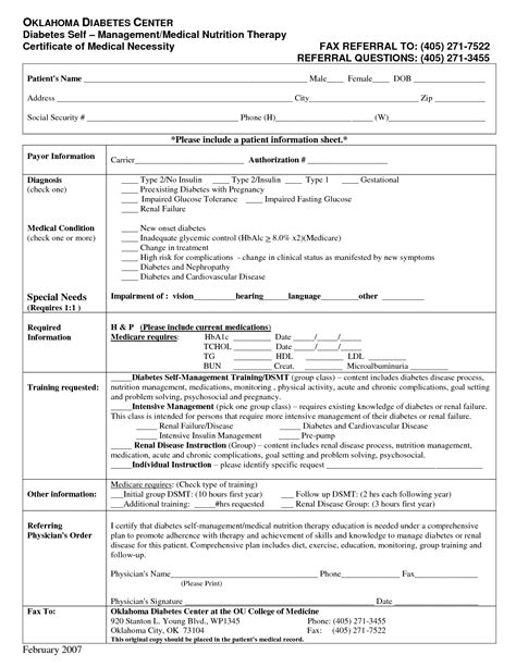 28 certificate of medical necessity form template
