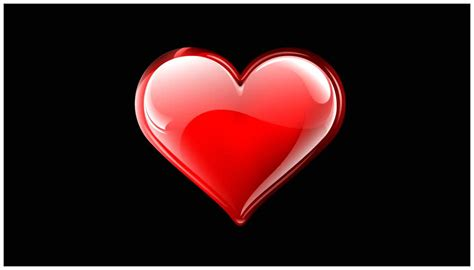 hot red heart shapes  hd background images