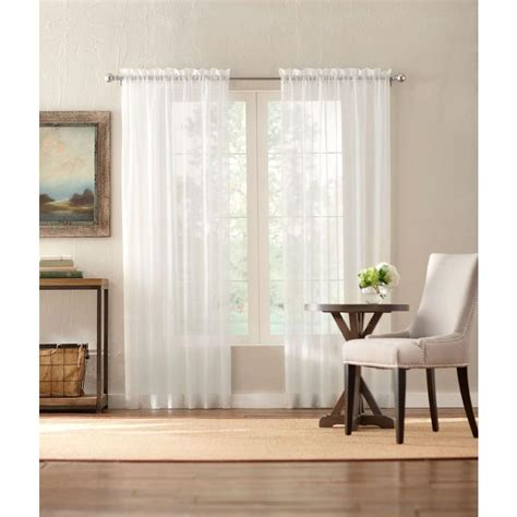home decorators curtain rods home decorators collection sheer cream sheer voile rod