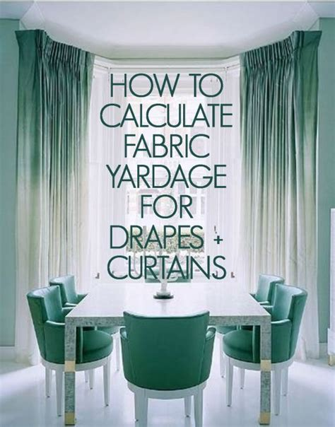 curtain yardage calculator calculating yardage drapes curtains shopjoya magazine
