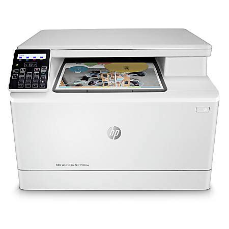 wireless color laser printer hp laserjet pro m180nw all in one wireless color laser