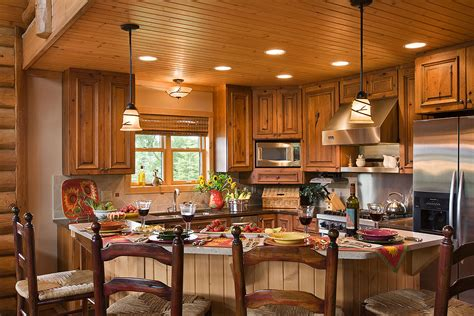 log home kitchens log home photos kitchen dining expedition log homes llc