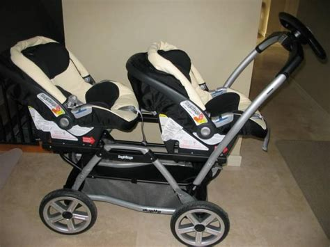perego cars twin strollers with car seats peg perego twin stroller