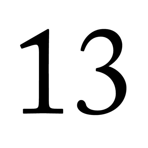 s day number 13 13 lucky number