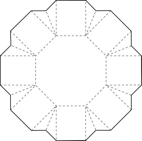 printable paper hexagon octagon box box template and free printable