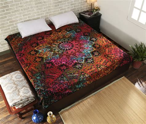 hippie bed comforters indian star mandala bedding set throw hippie bedspreads