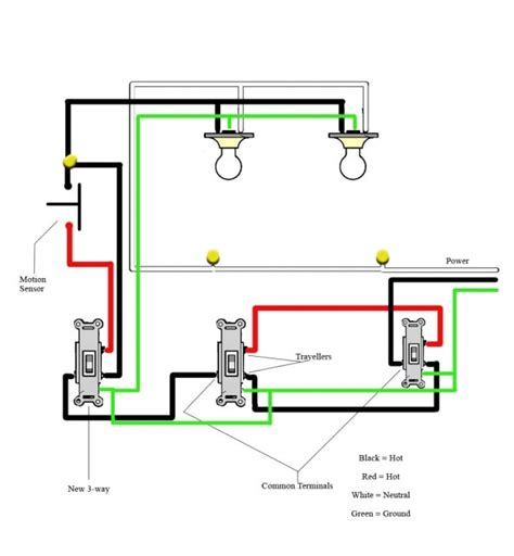 motion sensor schematic electrical wiring diagram pir