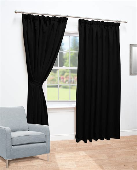 black thermal curtains ready made curtains black thermal blackout curtains
