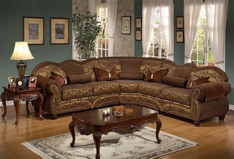 Living Room Furniture Traditional Style Deborah Traditional Sectional Sofa Style Plushemisphere