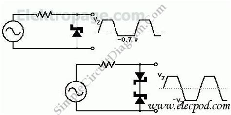 zener diode current limiting circuit zener diode signal limiter schematic circuits elektropage