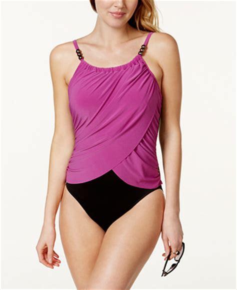 magicsuit draped tummy control one piece swimsuit magicsuit draped tummy control one piece swimsuit
