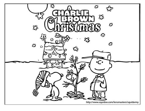 charlie brown christmas coloring sheets charlie brown