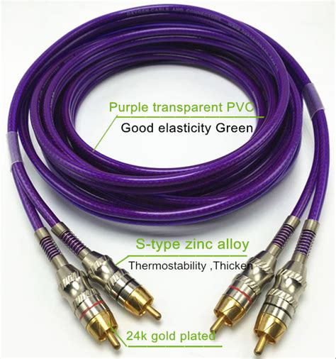 Kabel Audio Transparan Gold high quality and transparent rca cable car audio cable