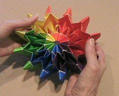 Origami Vedio - pin fireworks by yami yamauchi on