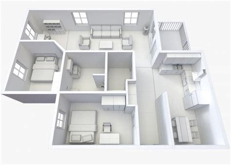 3d model floor plan house floor plan 2 non textured version 3d model max