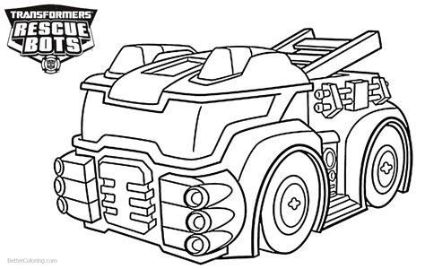 rescue bots coloring pages heatwave from transformers rescue bots coloring pages the