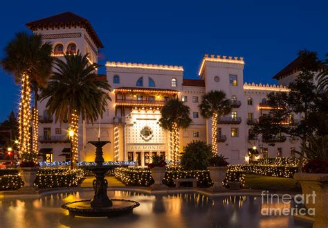 Night Of Lights St Augustine Casa Monica Hotel St Augustine Florida Photograph By