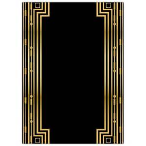 Great Gatsby Template by Gatsby Gold Wedding Gatefold Invitations Paperstyle