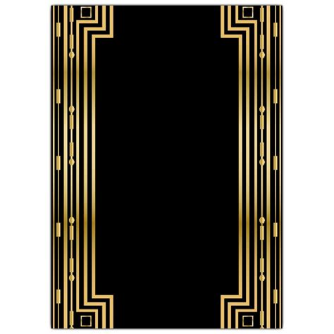 Gatsby Gold Wedding Gatefold Invitations Paperstyle Great Gatsby Powerpoint Template