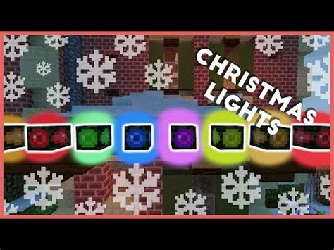 minecraft how to make christmas lights minecraft project