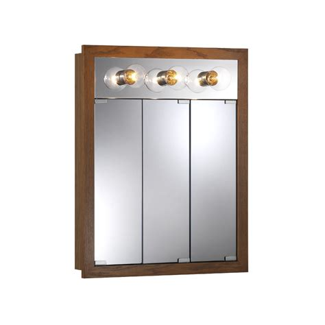 surface mount medicine cabinet with lights shop broan granville 24 in x 30 in rectangle surface poplar mirrored particleboard medicine