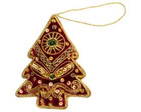 indian hand embroidered christmas ornaments