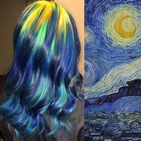 painting hair hair colourist creates stunning hair looks inspired by