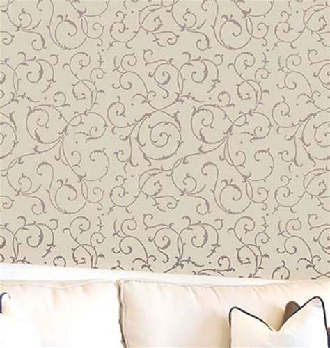 scroll stencil pattern for walls elegant wallpaper