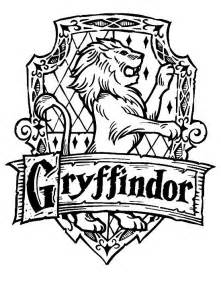hufflepuff crest coloring page harry potter hogwarts gryffindor crest diy harry potter
