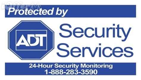 7 adt home security system window stickers decals alarm