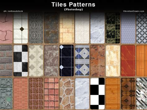 Tiles Photoshop Patterns by redheadstock on DeviantArt