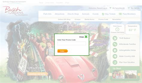 Busch Gardens Williamsburg Promo Code by Busch Gardens Williamsburg Promo Code Autos Post