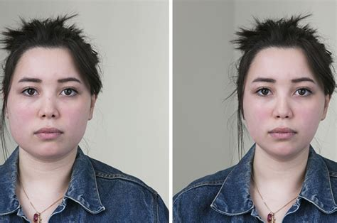 i have chubby cheeks and a large nose what kind of hairstyle should i wear this is what 6 faces look like after being photoshopped by