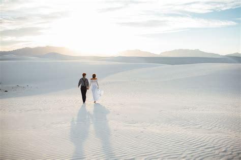 Bohemian White Sands Elopement: Malia   Derrik   Green