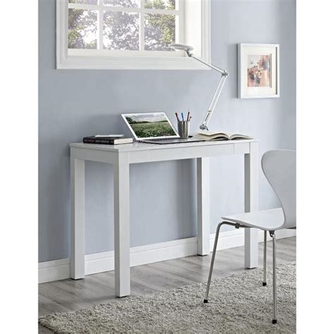 parsons white desk altra parsons white wooden desk with chevron top overstock shopping great deals on altra desks