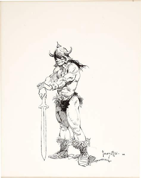 Sketches N by Cap N S Comics Conan Sketches By Frank Frazetta