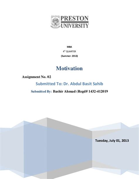 Motivation Assignment Mba by Four Dimension Of Dualism