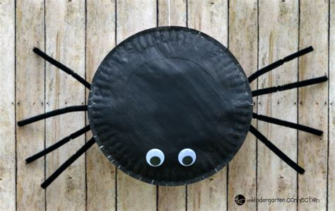 How To Make A Paper Spider - paper plate spider craft the kindergarten connection