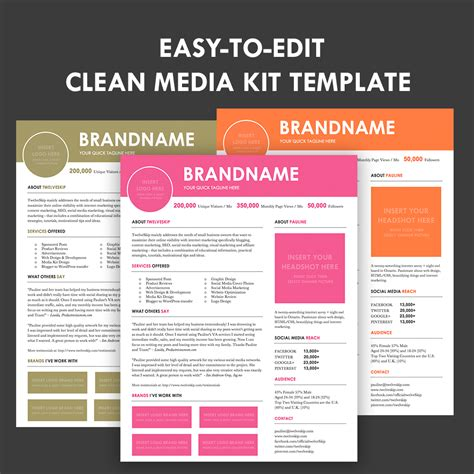 media kit design template media kit screen3