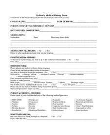 Personal History Template by Doc 585685 Sle History Form History